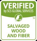 Salvaged Wood and Fiber logo