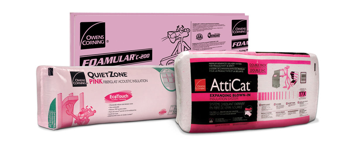 Owens Corning recycled content certified insulation products